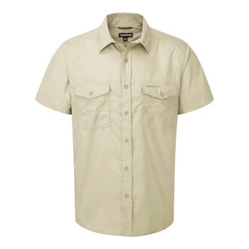 Men's Kiwi Short-Sleeved Shirt - Oatmeal