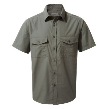 Men's Kiwi Short-Sleeved Shirt - Dark Grey