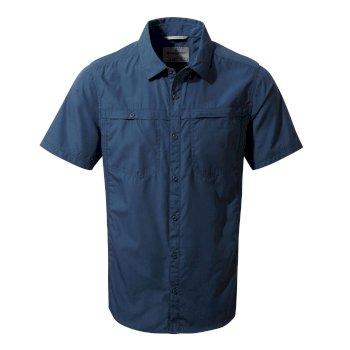 Kiwi Trek Short-Sleeved Shirt - Vintage Indigo
