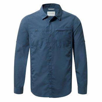 Kiwi Trek Long-Sleeve Shirt - Vintage Indigo