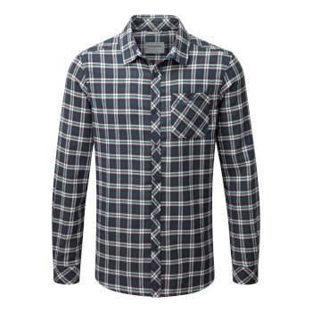Brigden Long-Sleeved Check Shirt - Storm Navy