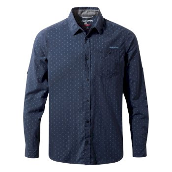 Insect Shield Todd Long Sleeved Shirt - Night Blue Combo