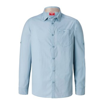NosiLife Tatton Long-Sleeve Shirt - Fogle Blue