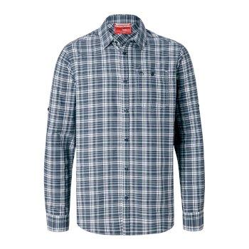 ea6b95548 NosiLife Barmera Long-Sleeved Shirt - Ombre Blue Check