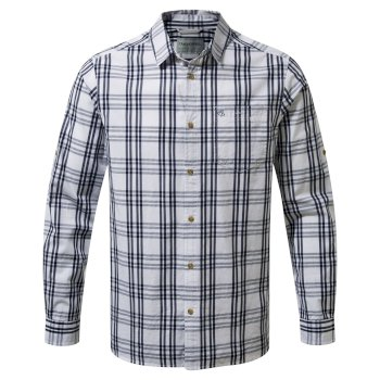 Blayney Long-Sleeved Check Shirt Blue Navy
