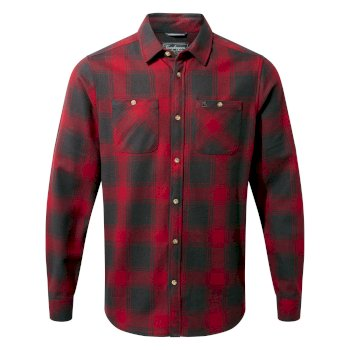 Men's Machrie Long-Sleeved Shirt  - Firth Red Check