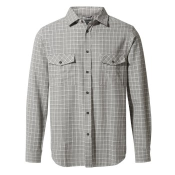 Kiwi Long-Sleeve Check Shirt - Cement Check