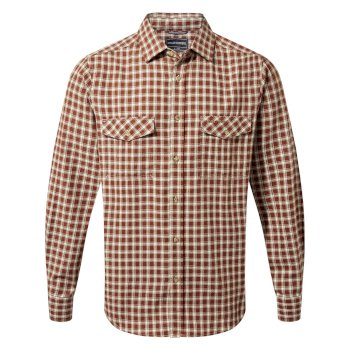 Kiwi Long-Sleeve Check Shirt - Burnt Umber Check