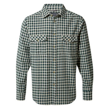 Kiwi Long-Sleeve Check Shirt - Mountain Green Check