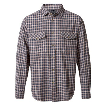 Kiwi Long-Sleeve Check Shirt - Ombre Blue Check