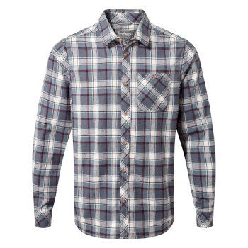 Men's Harris Long-Sleeved Shirt   - Ombre Blue Check