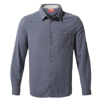 Men's Insect Shield® Nuoro Long-Sleeved Shirt - Ombre Blue