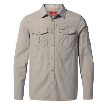 Men's Insect Shield® Adventure II Long-Sleeved Shirt - Parchment