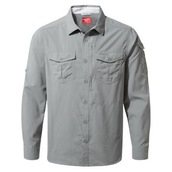 Men's Insect Shield® Adventure II Long-Sleeved Shirt - Cloud Grey
