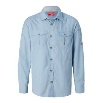 Men's Insect Shield® Adventure II Long-Sleeved Shirt - Fogle Blue