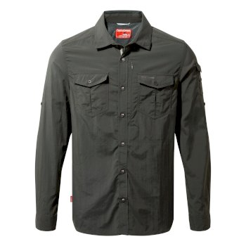 Men's Insect Shield® Adventure II Long-Sleeved Shirt - Black Pepper