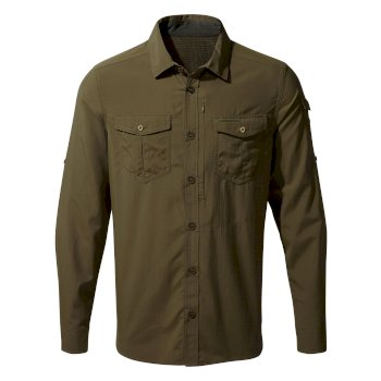 Men's Insect Shield® Adventure II Long-Sleeved Shirt - Dark Moss