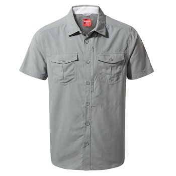 Men's Insect Shield® Adventure II Short-Sleeved Shirt  - Cloud Grey