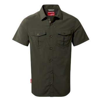 Men's Insect Shield® Adventure II Short-Sleeved Shirt  - Dark Khaki