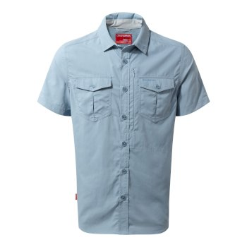 Men's Insect Shield® Adventure II Short-Sleeved Shirt  - Fogle Blue