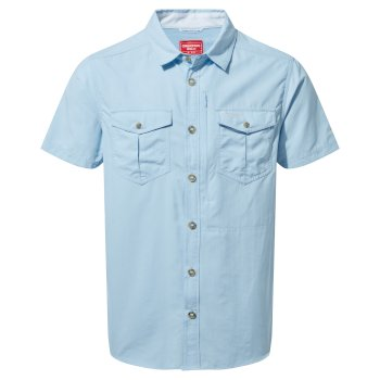 Men's Insect Shield® Adventure II Short-Sleeved Shirt  - Harbour Blue
