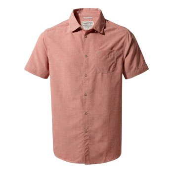 Broni Short-Sleeved Shirt - Red Ochre