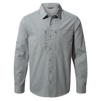 Men's Kiwi Boulder Long-Sleeved Shirt - Cloud Grey