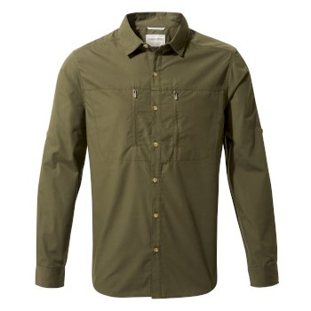 Men's Kiwi Boulder Long-Sleeved Shirt - Dark Khaki