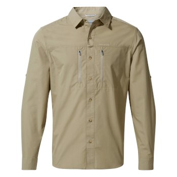 Men's Kiwi Boulder Long-Sleeved Shirt - Rubble