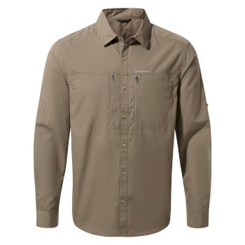 Men's Kiwi Boulder Long-Sleeved Shirt - Pebble