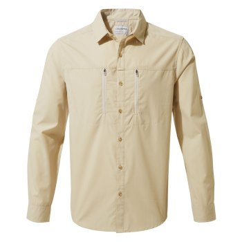 Men's Kiwi Boulder Long-Sleeved Shirt - Oatmeal