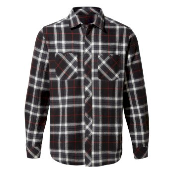 Men's Riffelap Long-Sleeved Shirt - Black Pepper Check