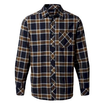 Cogwheel Long-Sleeved Shirt - Blue Navy Check