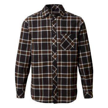 Cogwheel Long-Sleeved Shirt - Ibex Brown Check
