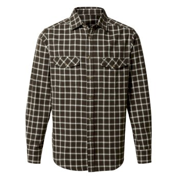 Men's Kiwi Check Long-Sleeved Shirt - Woodland Green Check