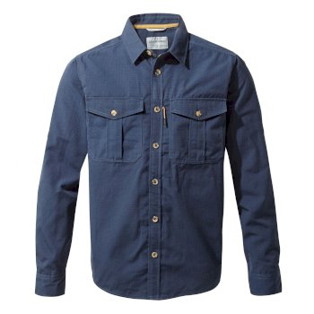 Kiwi Ripstop Long-Sleeved Shirt - Blue Navy