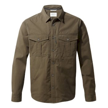 Men's Kiwi Ripstop Long-Sleeved Shirt - Woodland Green