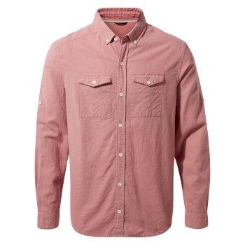 Kiwi Linen Long Sleeved Shirt - Light Radicchio