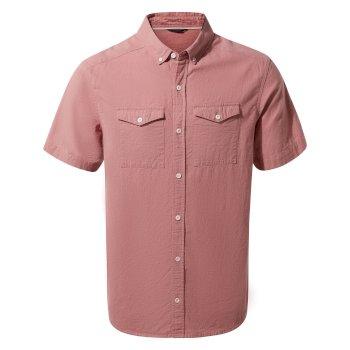 Kiwi Linen Short Sleeved Shirt - Light Radicchio