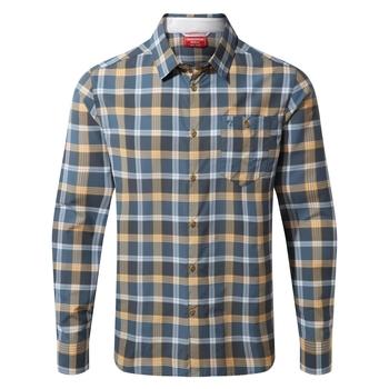 NosiLife Balbor Long Sleeved Shirt - Ocean Blue Check