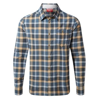Men's Insect Shield® Balbor Long-Sleeved Shirt - Ocean Blue Check