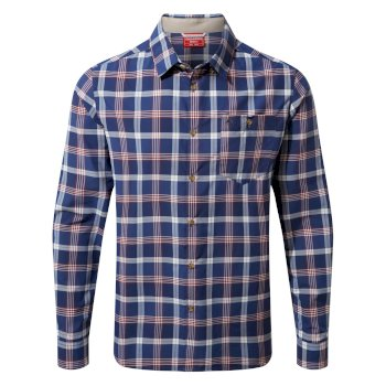 Men's Insect Shield® Balbor Long-Sleeved Shirt - Lapis Blue Check
