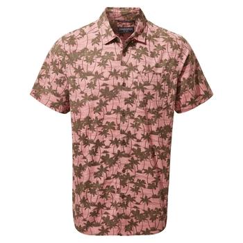 Carlos Short Sleeved Shirt - Light Radicchio