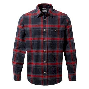 Wilmot Long Sleeved Shirt - Blue Navy Check