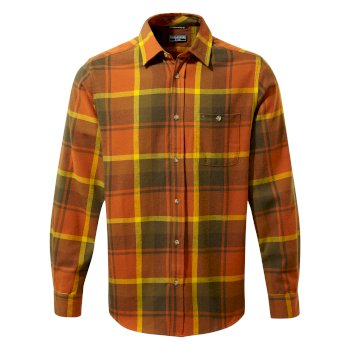Men's Wilmot Long Sleeved Shirt - Potters Clay Check