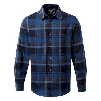 Wilmot Long Sleeved Shirt - Deep Blue Check