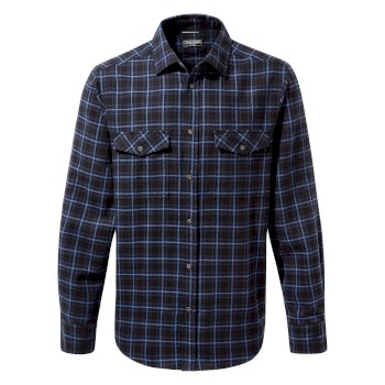 Men's Kiwi III Check Long Sleeved Shirt - Dark Navy Check