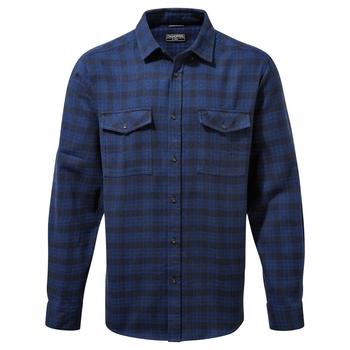 Kiwi III Check Long Sleeved Shirt - Blue Navy Check