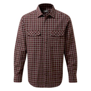 Kiwi III Check Long Sleeved Shirt - Elk Brown Check