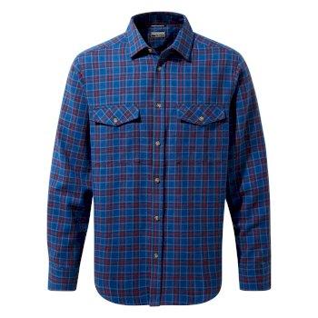 Kiwi III Check Long Sleeved Shirt - Deep Blue Check